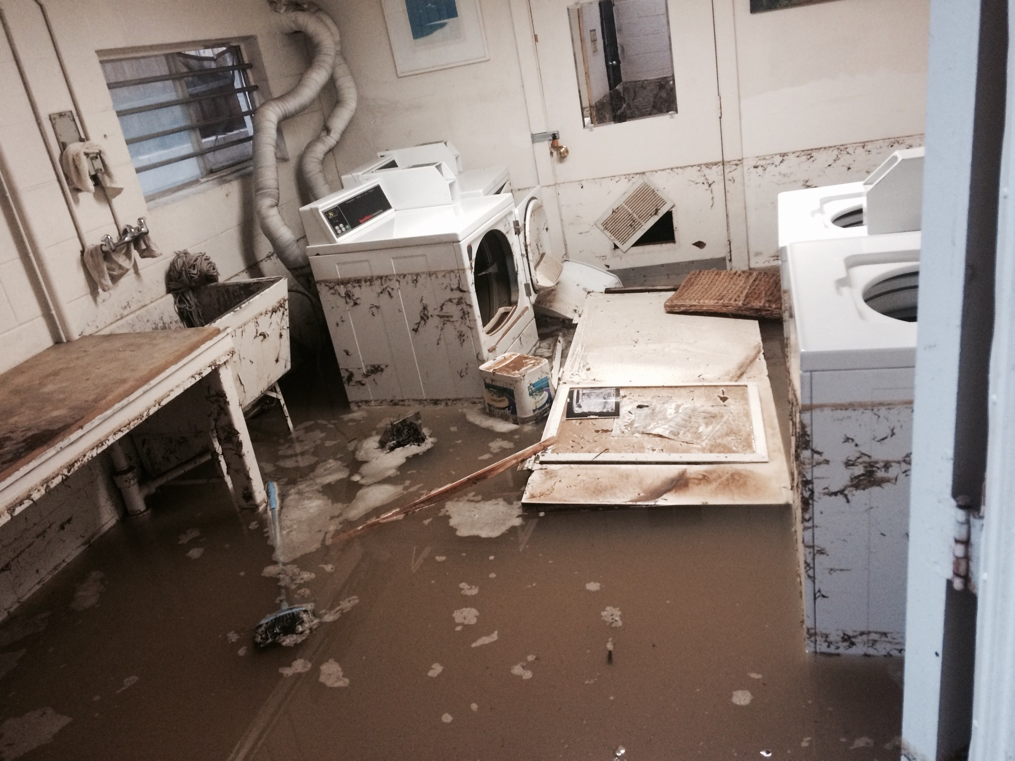 Broken Water Main Floods North Park Homes Roads The San