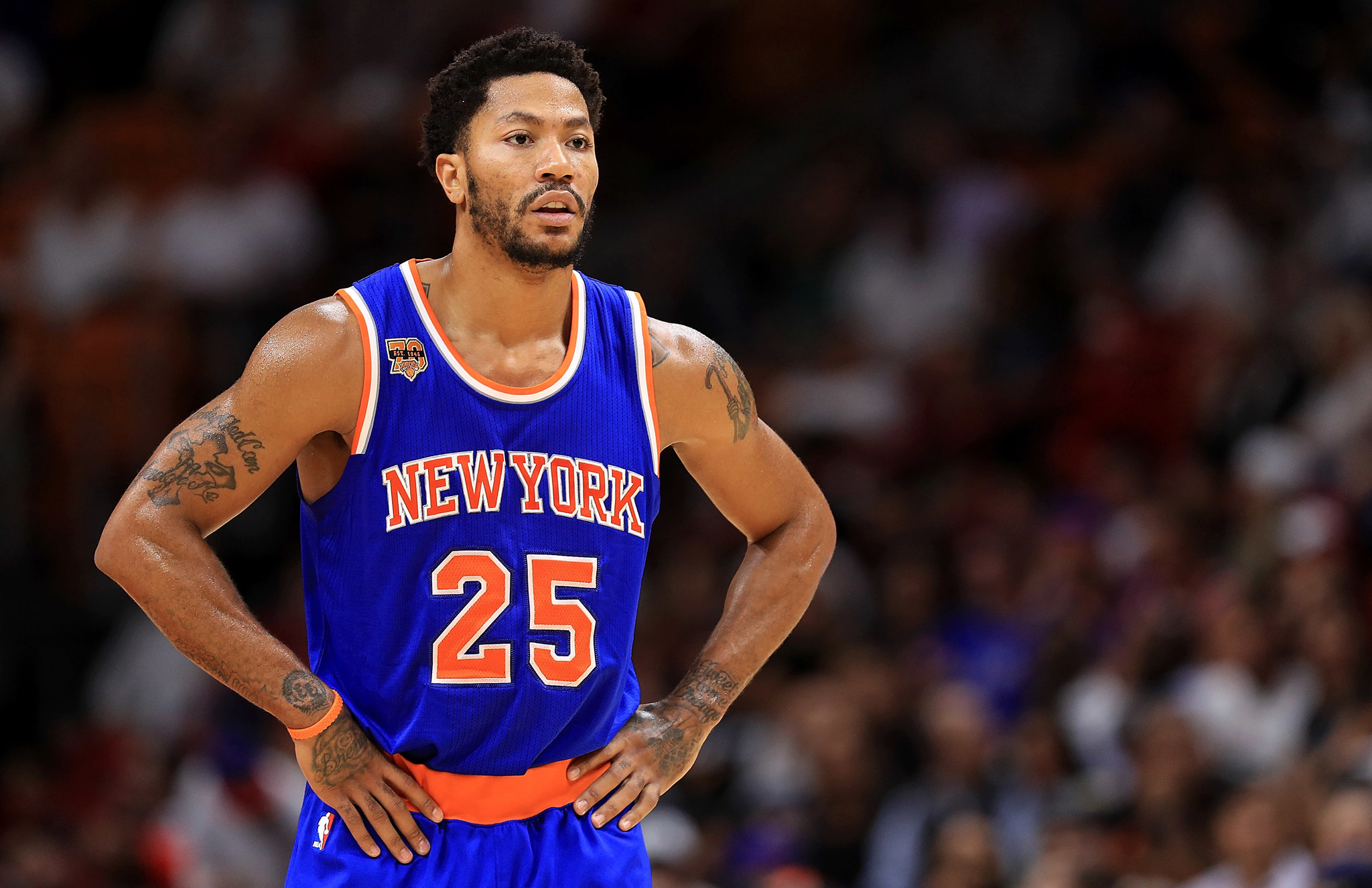 5e3da2a6d8f Knicks  Derrick Rose misses game for unknown reason - Chicago Tribune