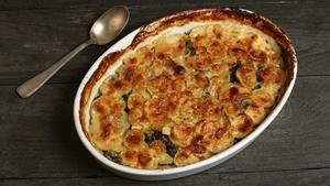 Parsnip gratin with fresh nutmeg