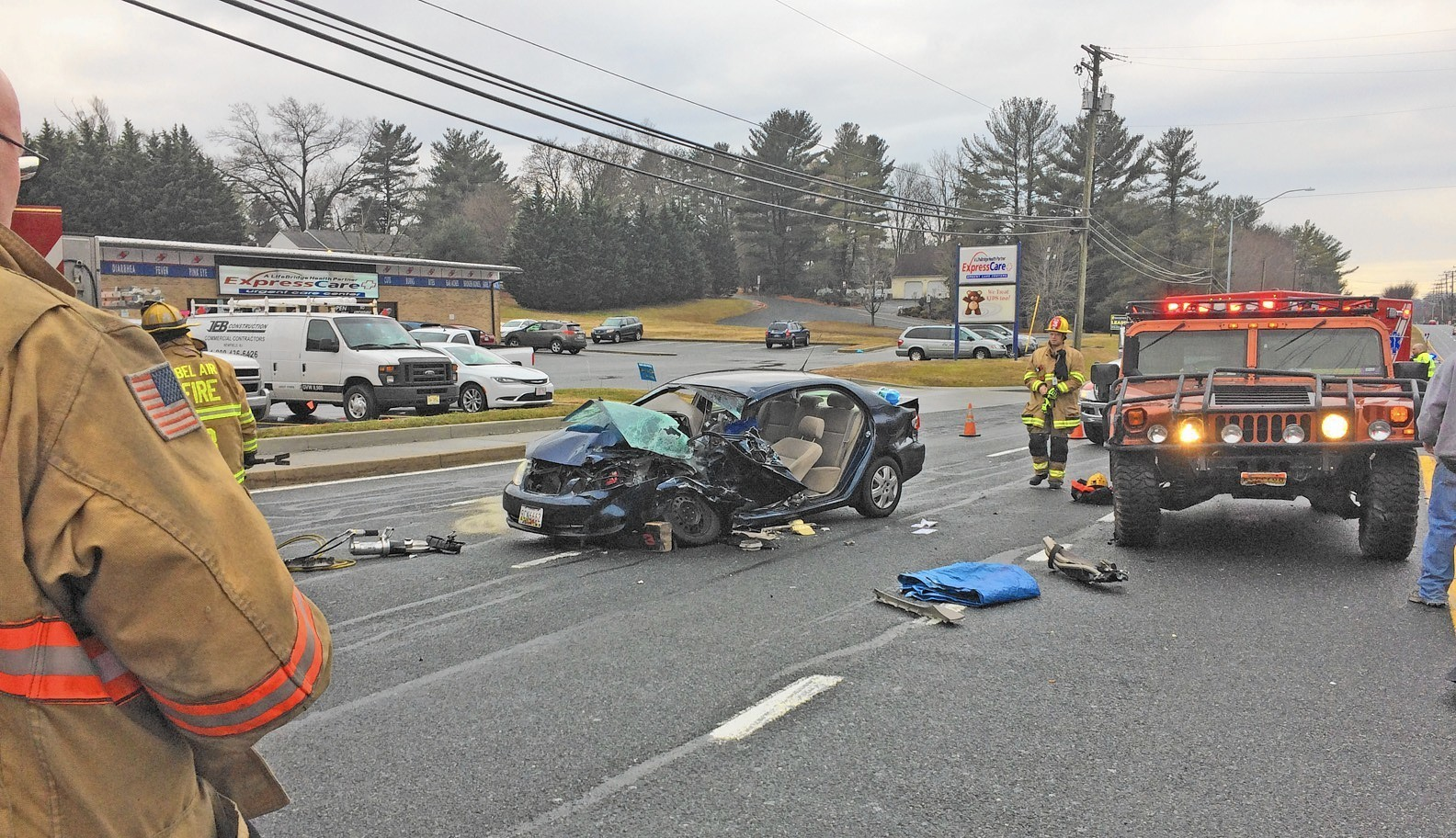 Woman hurt in crash Wednesday on Route 22 near Route 543 in Fountain