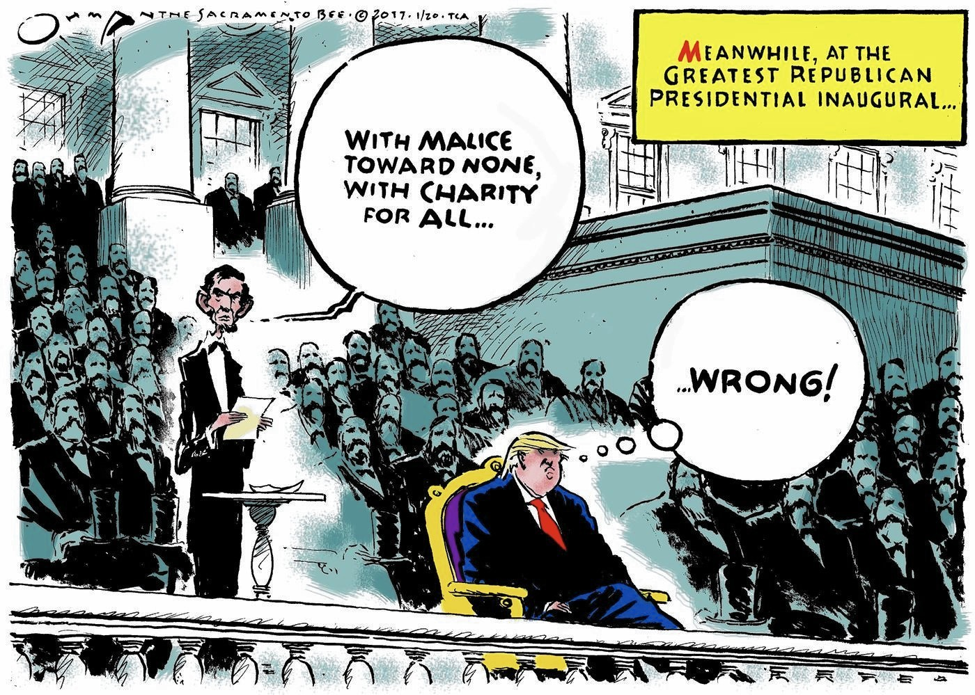 trump inauguration in cartoons baltimore sun