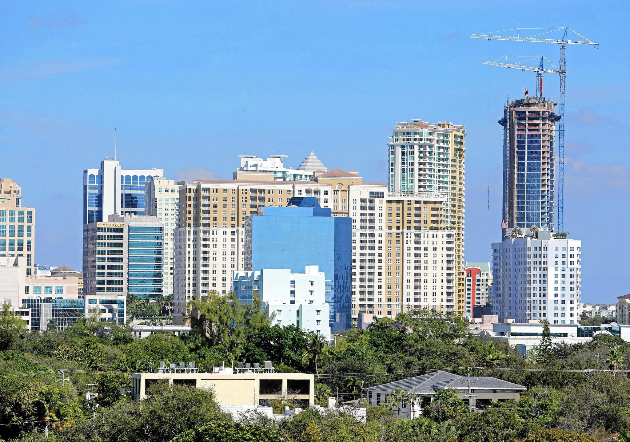 Downtown Fort Lauderdale Stretching Ever Skyward Sun