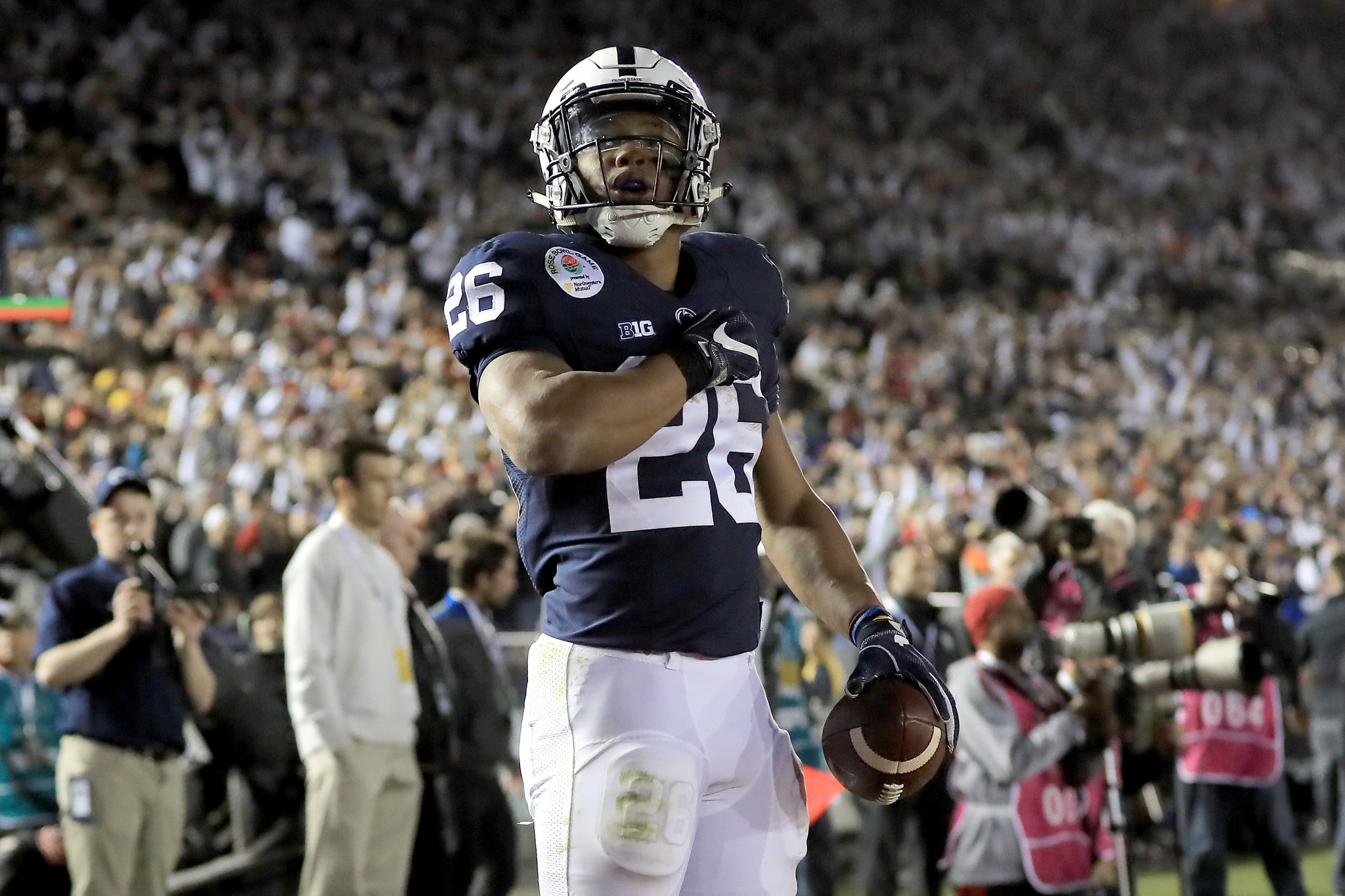 brand new 429dd 81d56 Penn State's Saquon Barkley returns to work, fueled by Rose ...
