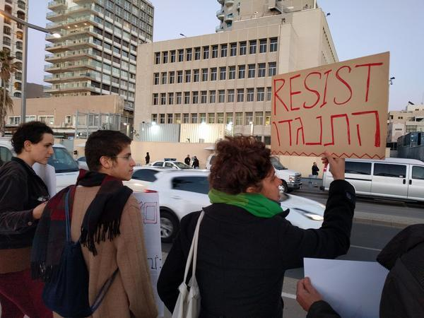 Tel Aviv Update: Protesters In Tel Aviv Compare Trump Immigration Order To
