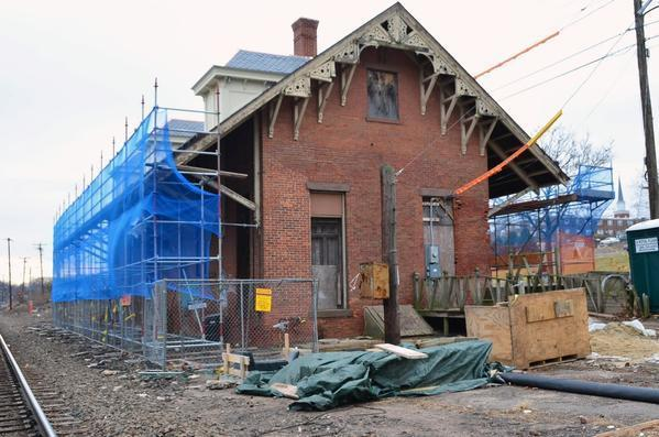 Restoration Work Continues On Old Train Station Courant