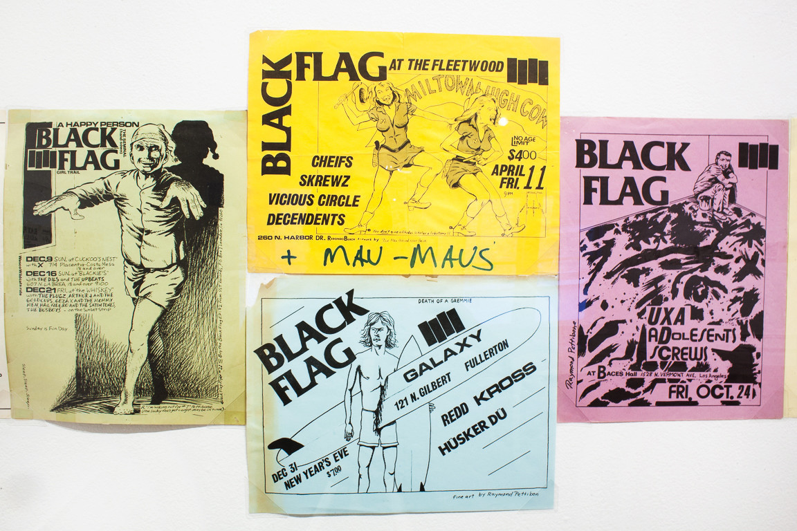 Early punk fliers by Raymond Pettibon at These Days.