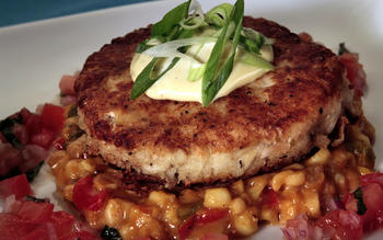Red Fish Grill's crab cakes