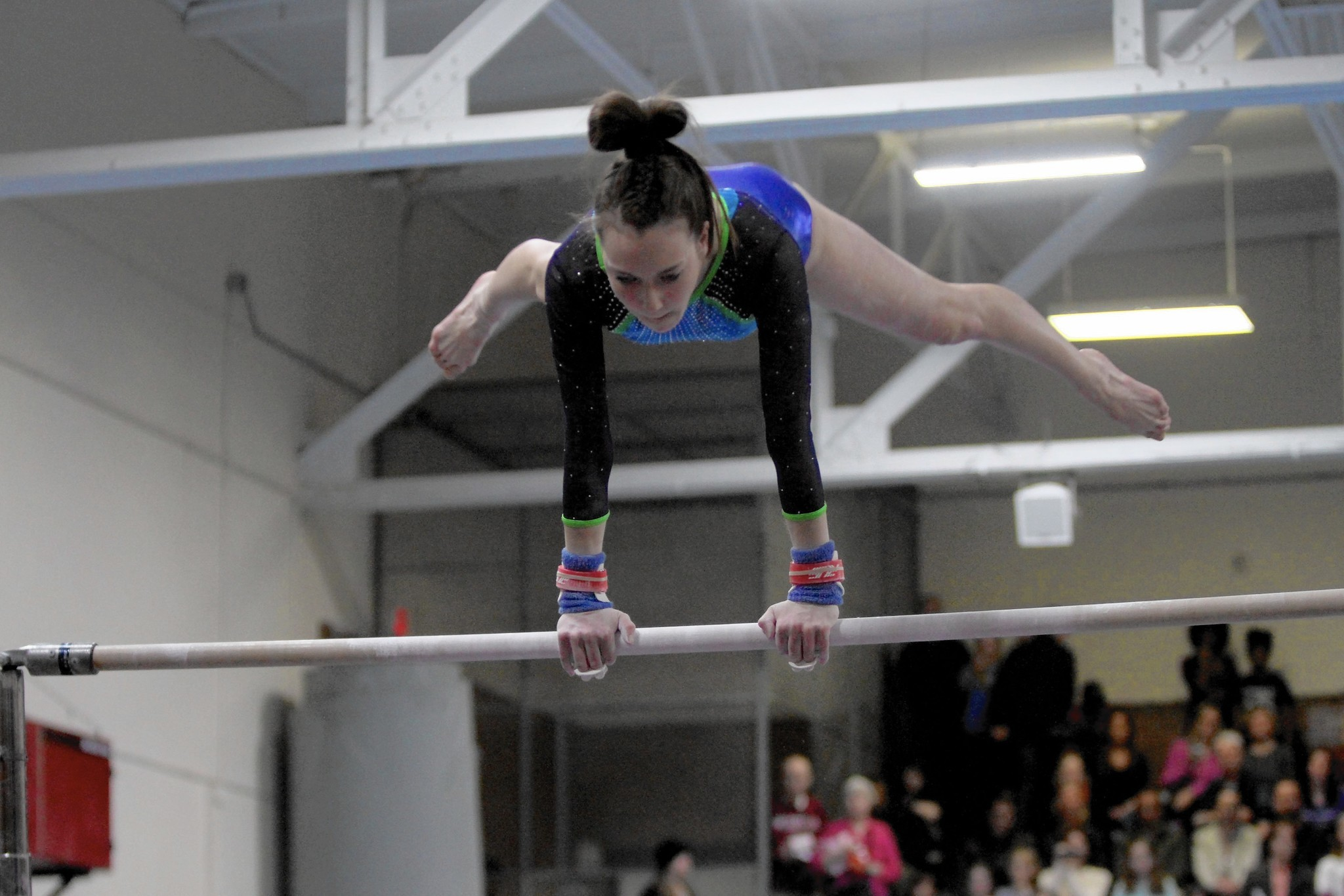 Gymnasts from rival high schools bond at local club ...