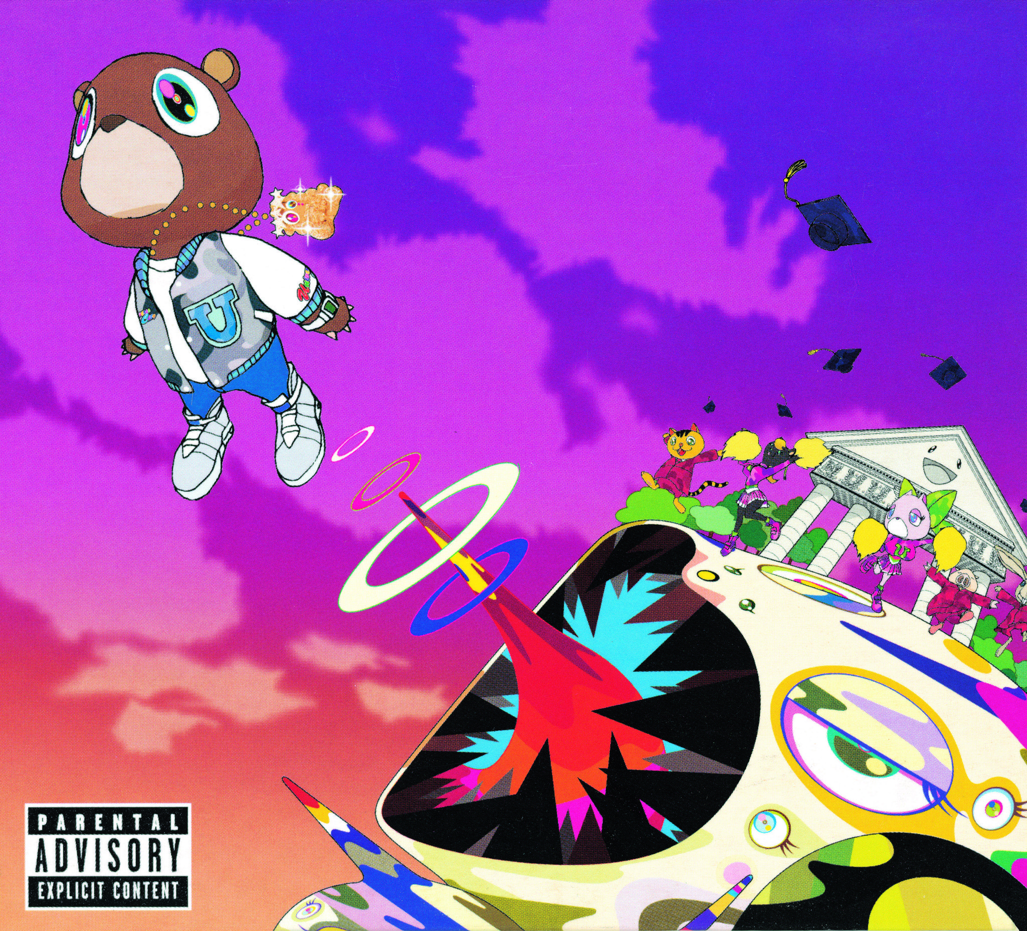 "Takashi Murakami's art for Kanye West's ""Graduation,"" 2007"