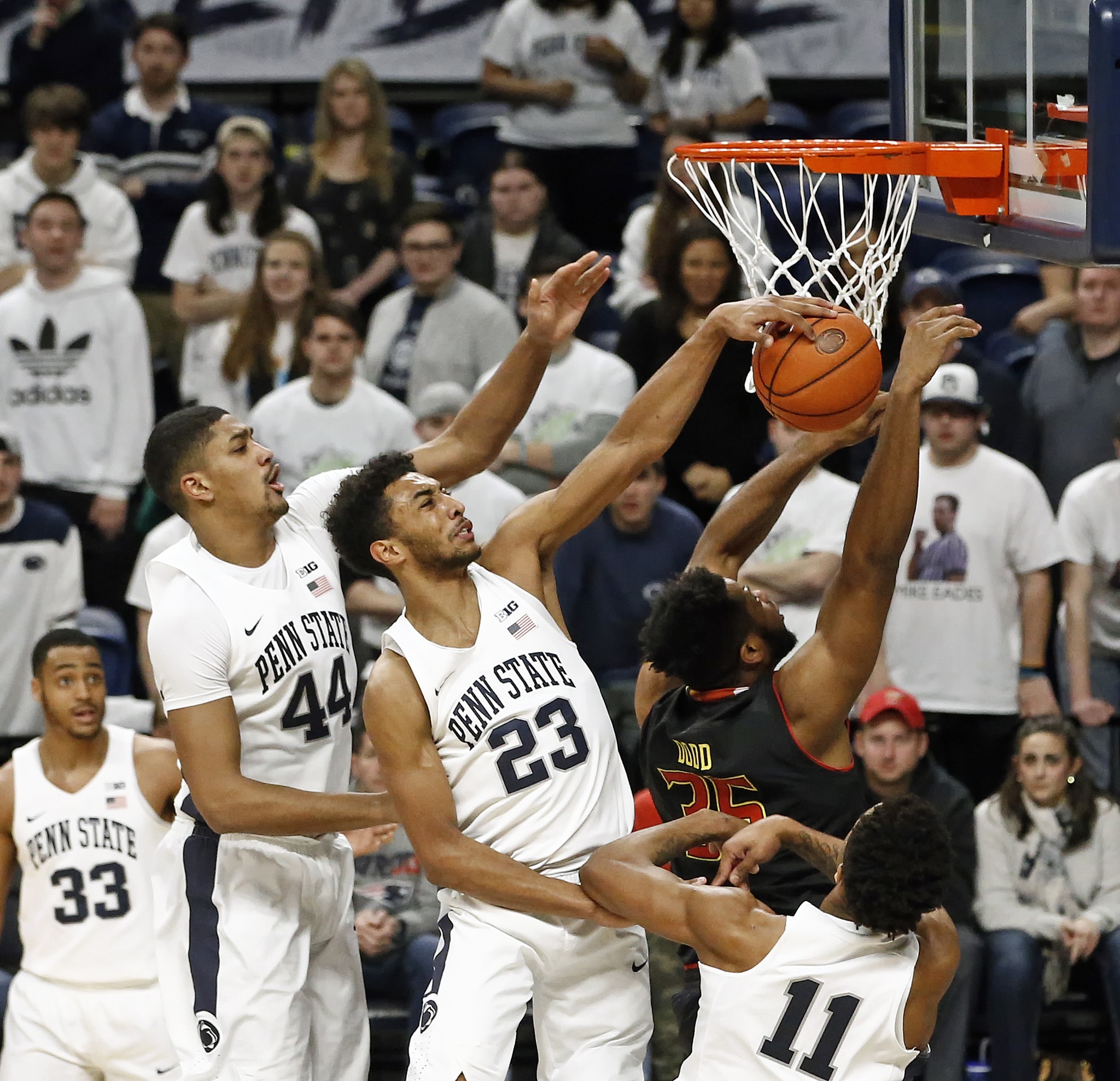 it wasn't a fun night.' maryland basketball loses at penn state