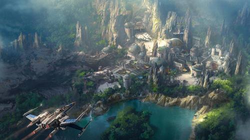 An artist rendering of the new Star Wars land at Disneyland. (Walt Disney Co.)