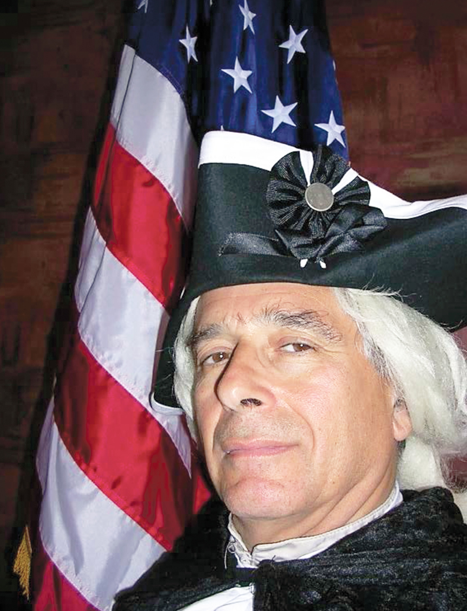 Historical re-enactor Peter M. Small as George Washington.