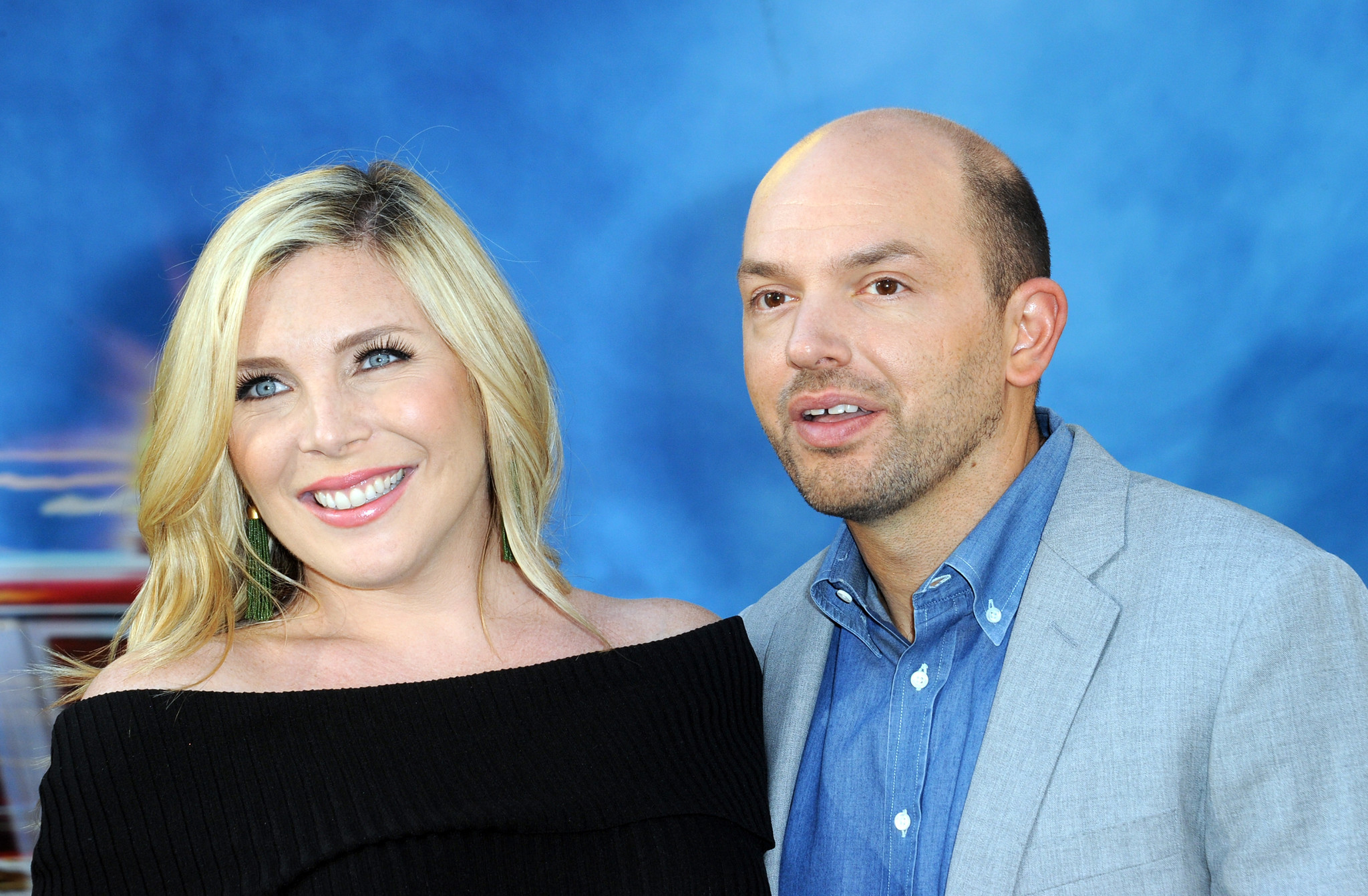 """June Diane Raphael and Paul Scheer at the premiere for """"Ghostbusters"""" at TCL Chinese Theatre on July 9, 2016."""