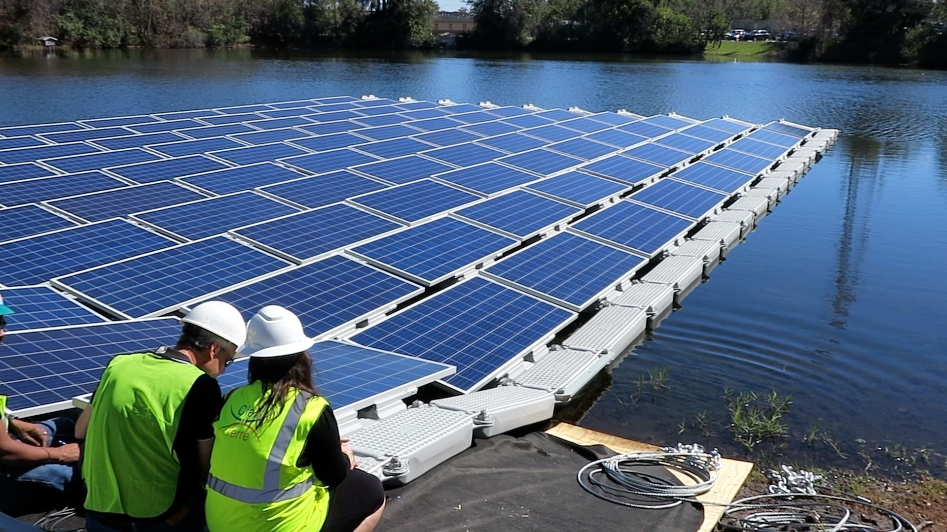 Ouc Installs Floating Solar Panels To Take Advantage Of