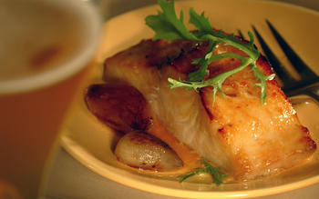 Black cod marinated in miso and beer