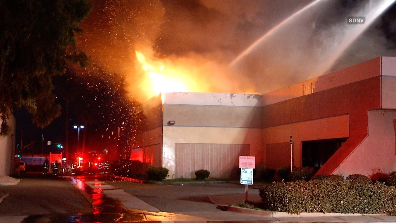 fire causes extensive damage to motorcycle shop - the san diego