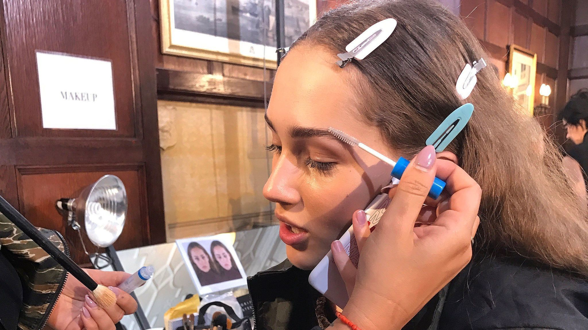 A Backstage Look At Makeup And Hair At Victoria Beckham S