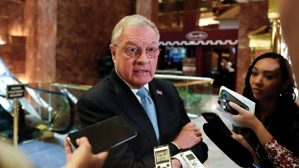 FILE - In this Nov. 15, 2016, file photo, retired Lt. Gen. Keith Kellogg speaks to reporters at Trump Tower in New York.