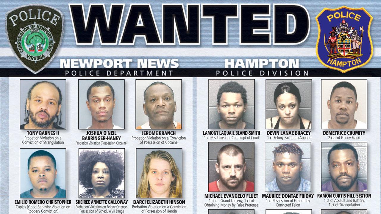 Newport News Amp Hampton Most Wanted Criminals Feb 9