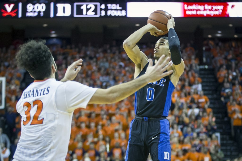 big sale 493b5 c1f61 Jayson Tatum the latest Duke freshman to foil Virginia ...