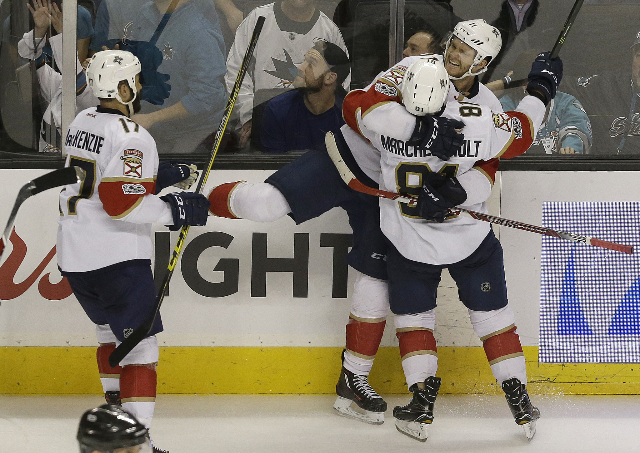 dad555093 Huberdeau OT goal lifts Panthers after blowing two-goal leads twice in San  Jose  Luongo injured late - Sun Sentinel