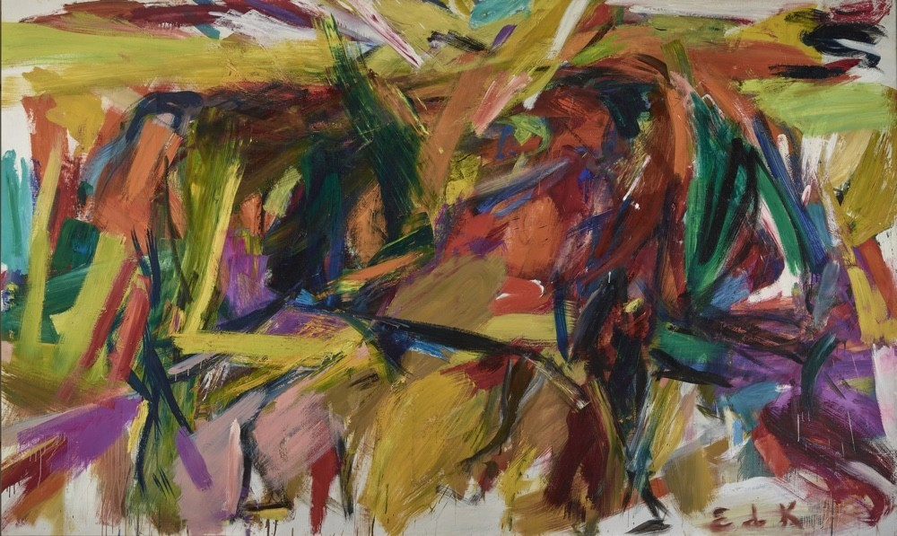 """Bullfight,"" 1959, by Elaine de Kooning, part of the exhibition ""Women of Abstract Expressionism."""