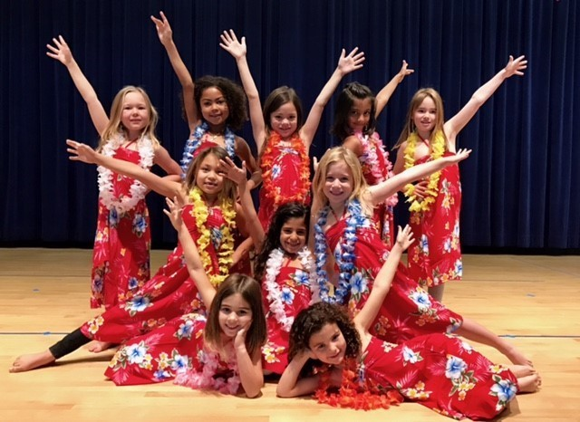The girls at the talent show.