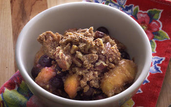 Peach and Blueberry Crisp