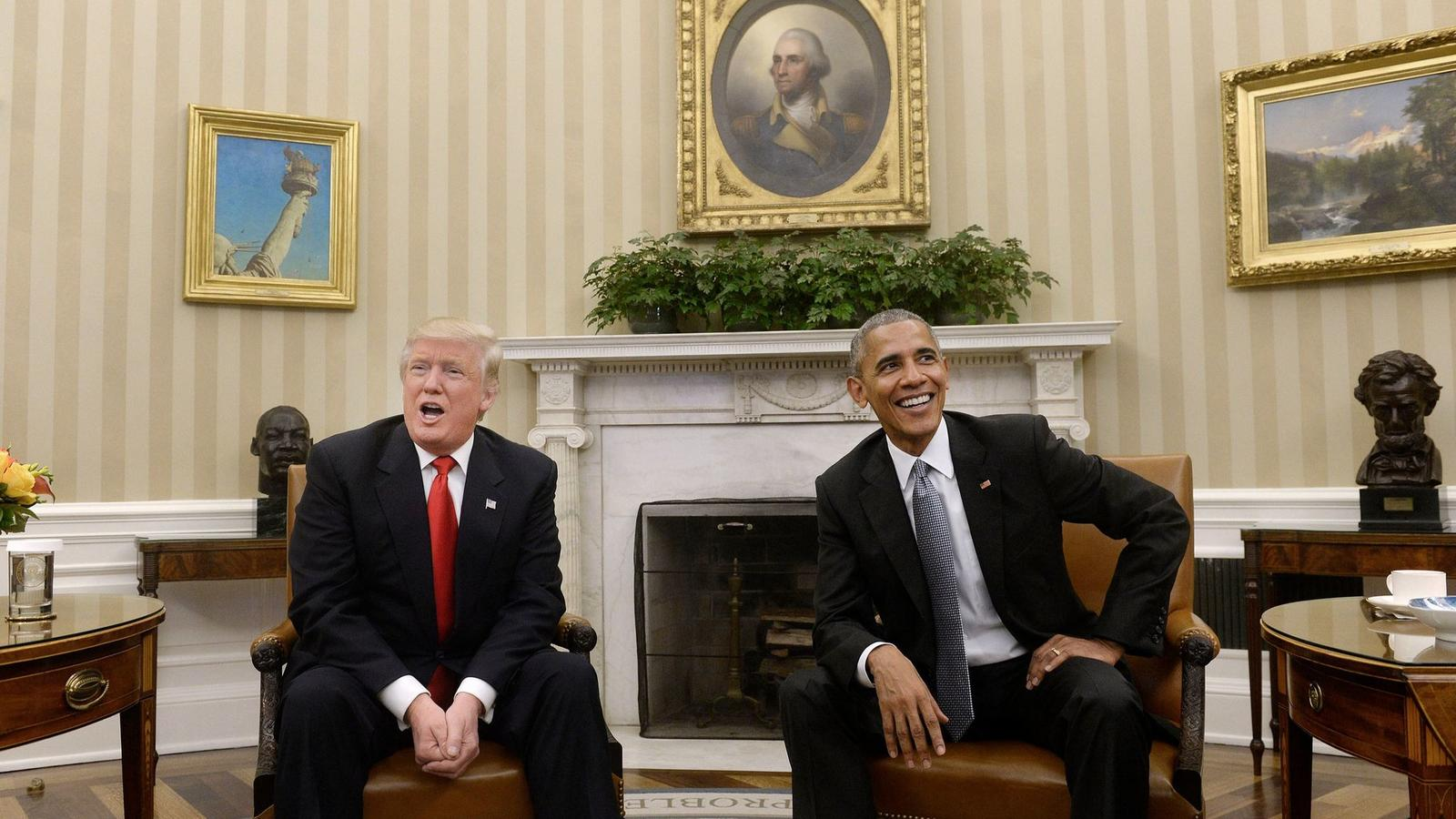 President Obama meets with President-elect Donald Trump.