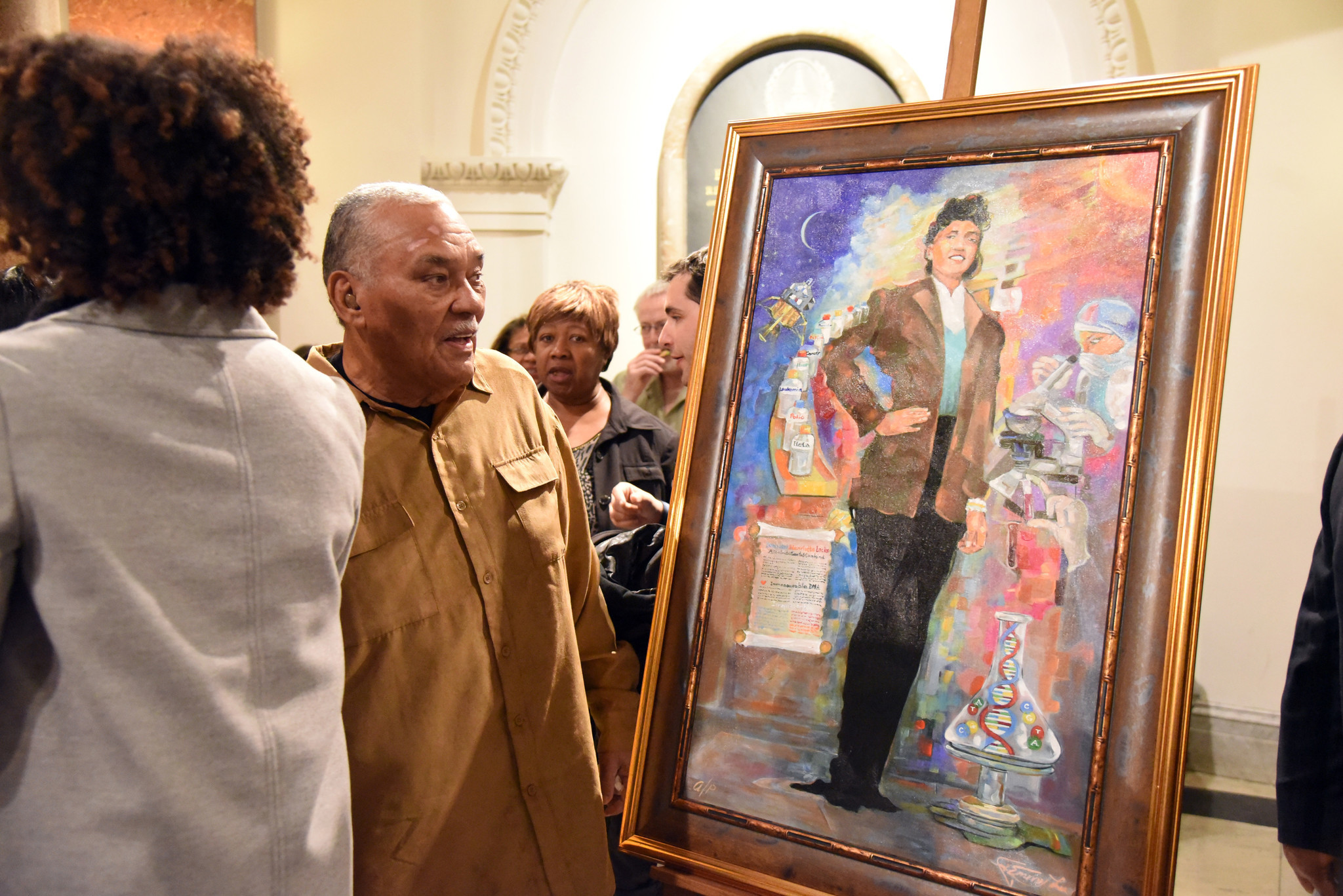 Lawrence Lacks at the unveiling last year of a portrait of ...