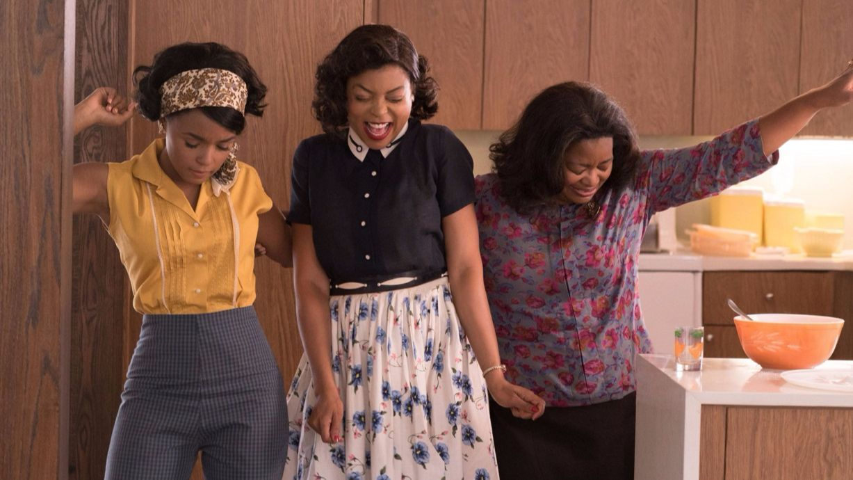 "Janelle Monae, from left, Taraji P. Henson and Octavia Spencer in ""Hidden Figures."""