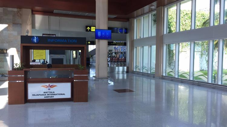 The international airport in Hambantota, Sri Lanka, sees three outbound flights on its busiest days.