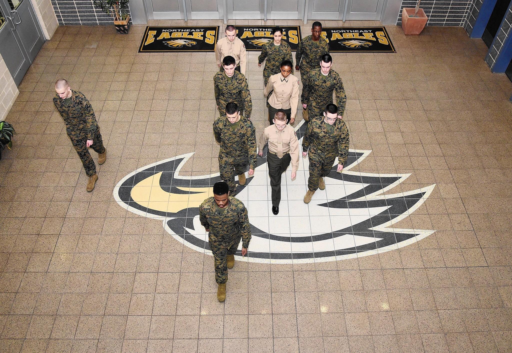 High School Military Programs Teach Leadership Provides Community
