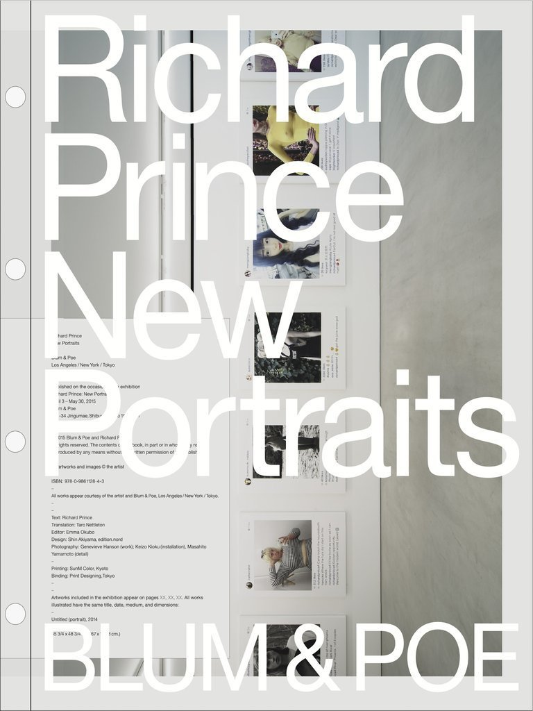 """New Portraits,"" a book by artist Richard Prince featuring appropriated images from Instagram."