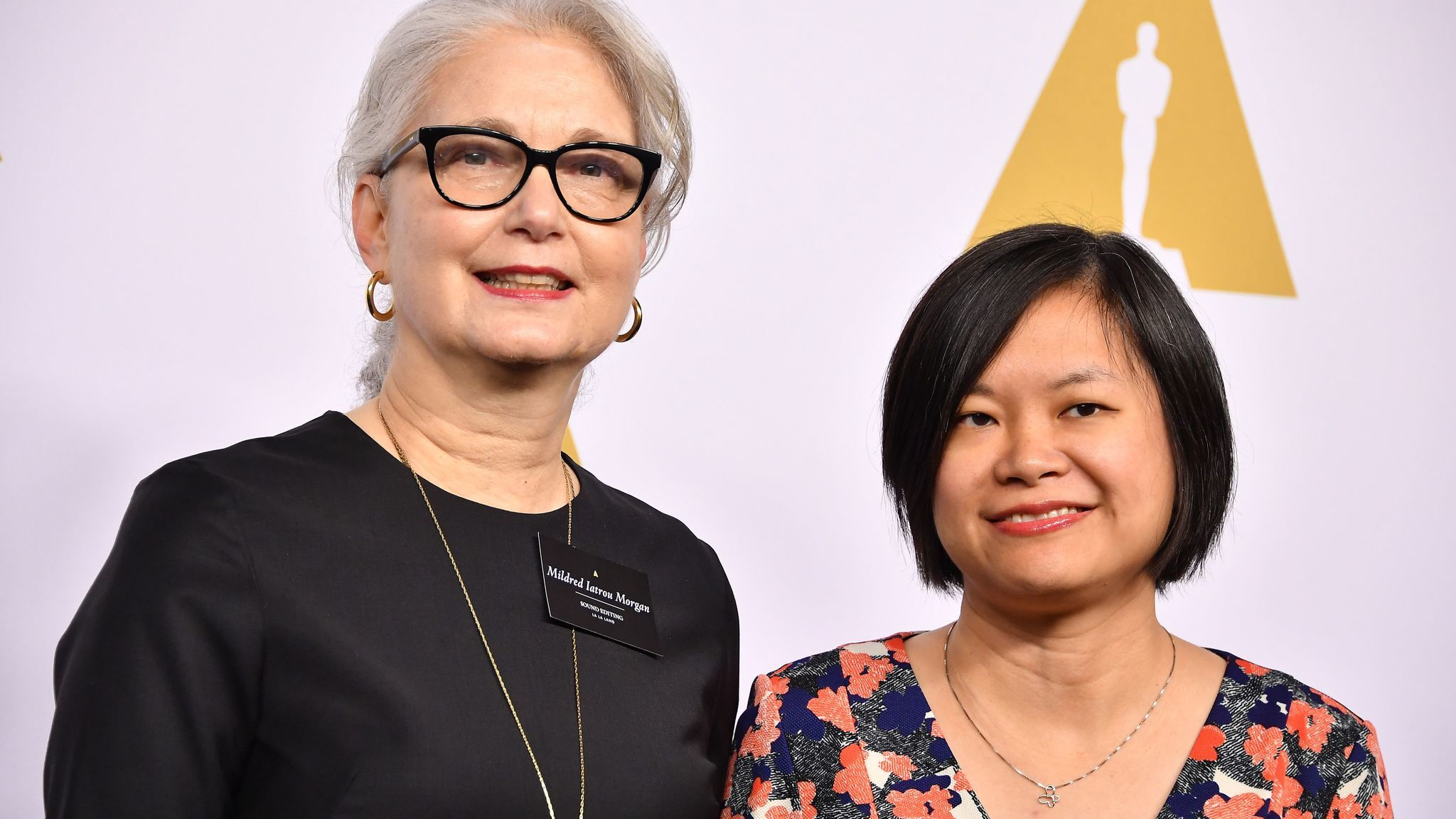 Ai-Ling Lee, left, and Mildred Iatrow Morgan, seen at the 89th Annual Academy Awards Nominee Luncheon, are the first all-woman sound editing team to be nominated for an Oscar.