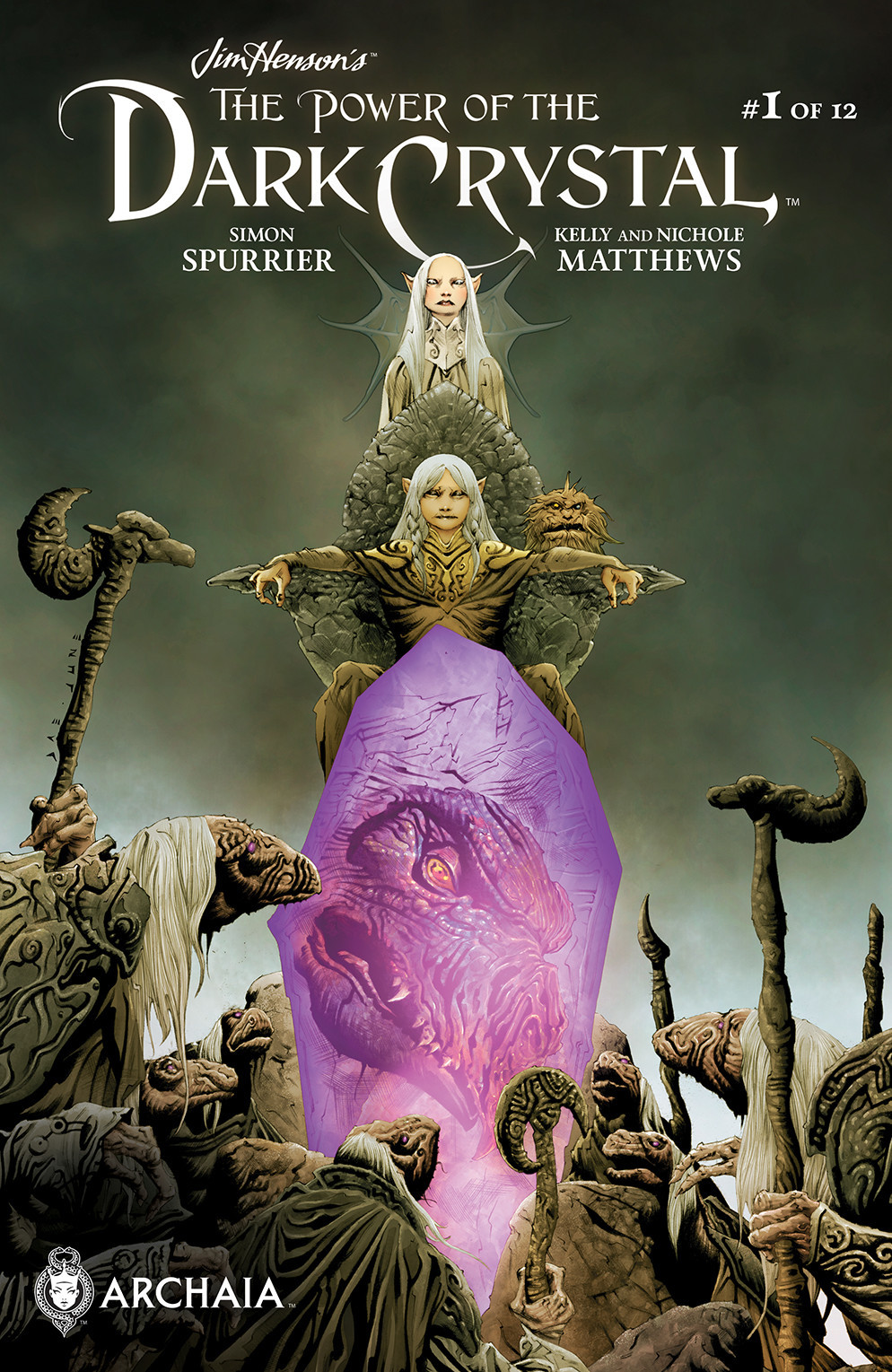 """The main cover for """"The Power of the Dark Crystal"""" No. 1 by Jae Lee and June Chung."""