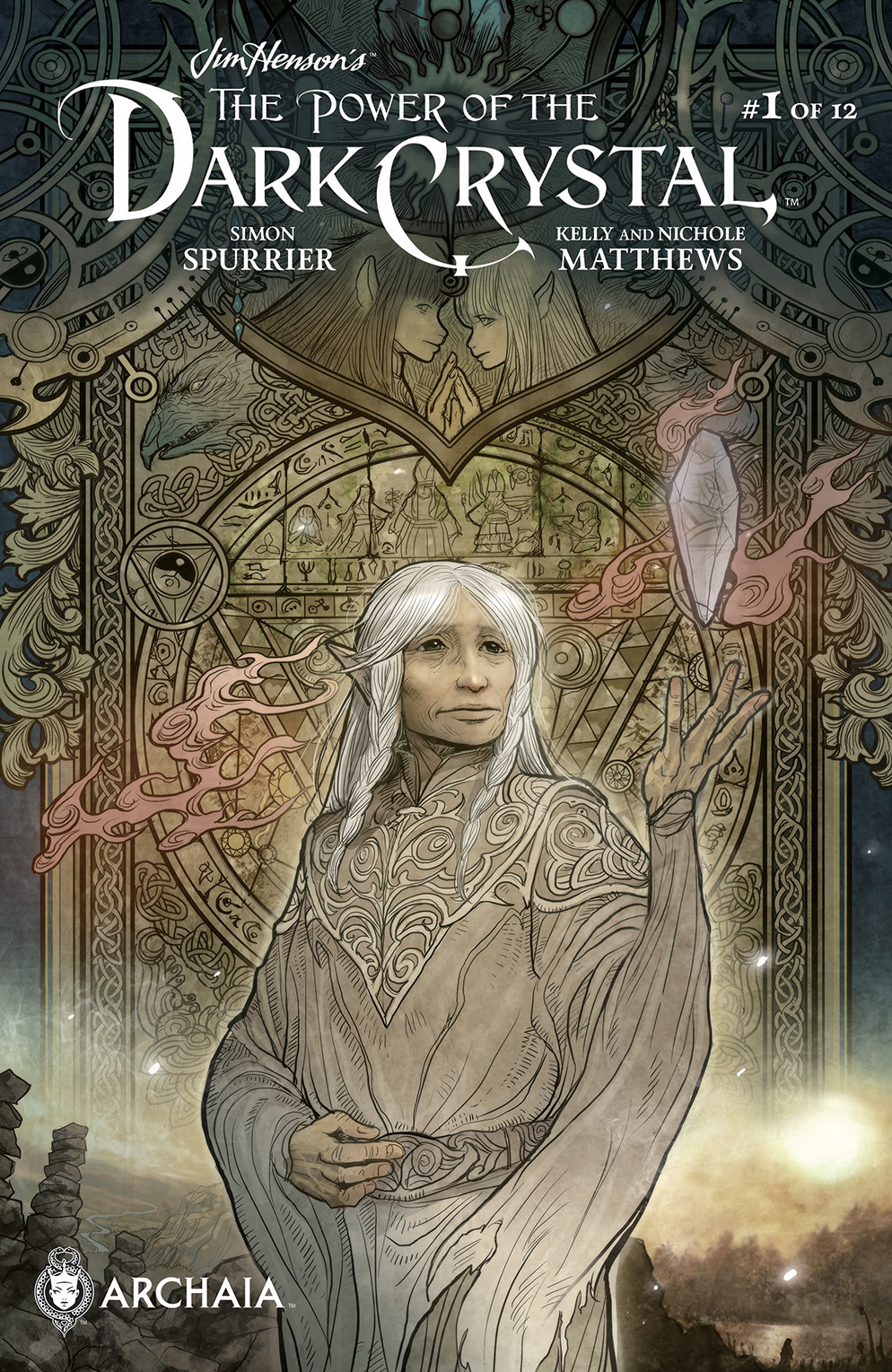"""The subscription cover for """"The Power of the Dark Crystal"""" no. 1 by Sana Takeda."""