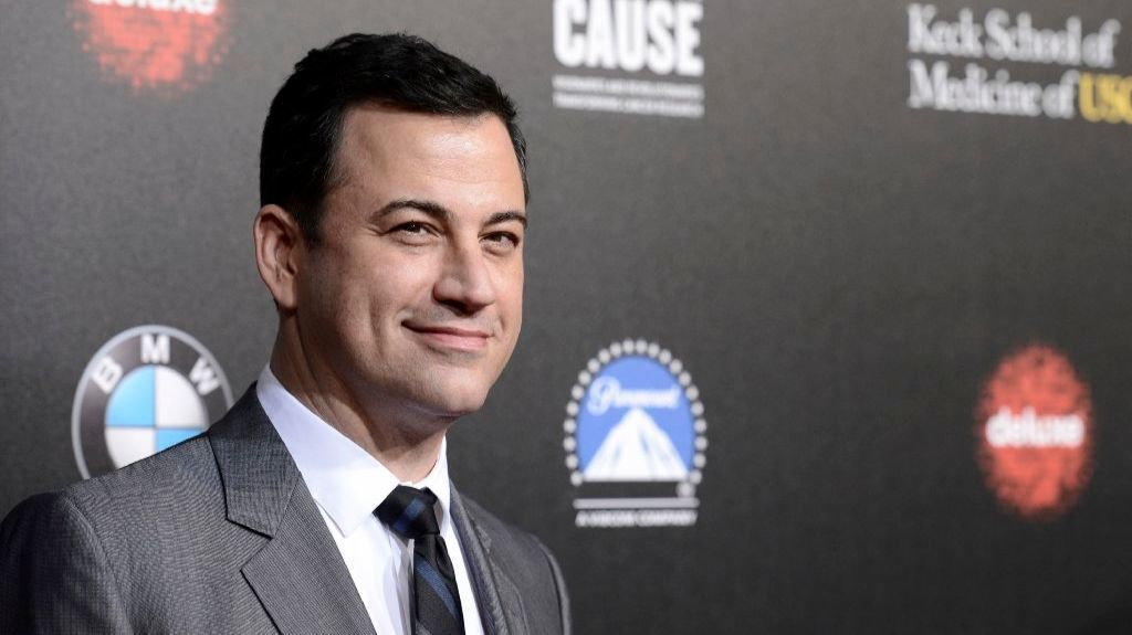 "In this March 20, 2014, file photo, television personality and event host Jimmy Kimmel attends the 2nd Annual ""Rebels With a Cause"" Gala benefiting the USC Center for Applied Molecular Medicine at Paramount Pictures Studios in Los Angeles."