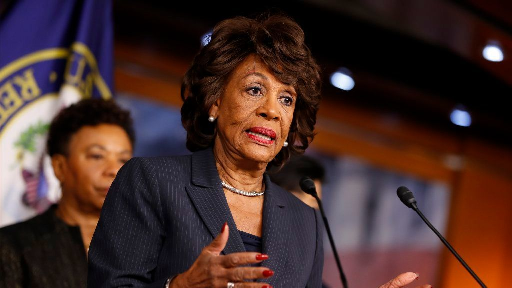 Rep. Maxine Waters (D-CA) speaks at a press conference on Capitol Hill January 31, 2017 in Washington, DC. Waters called for investigation into Trump administration ties to Russia.