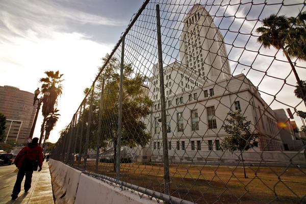 Los Angeles City Hall on Nov. 30, 2011. (Los Angeles Times)
