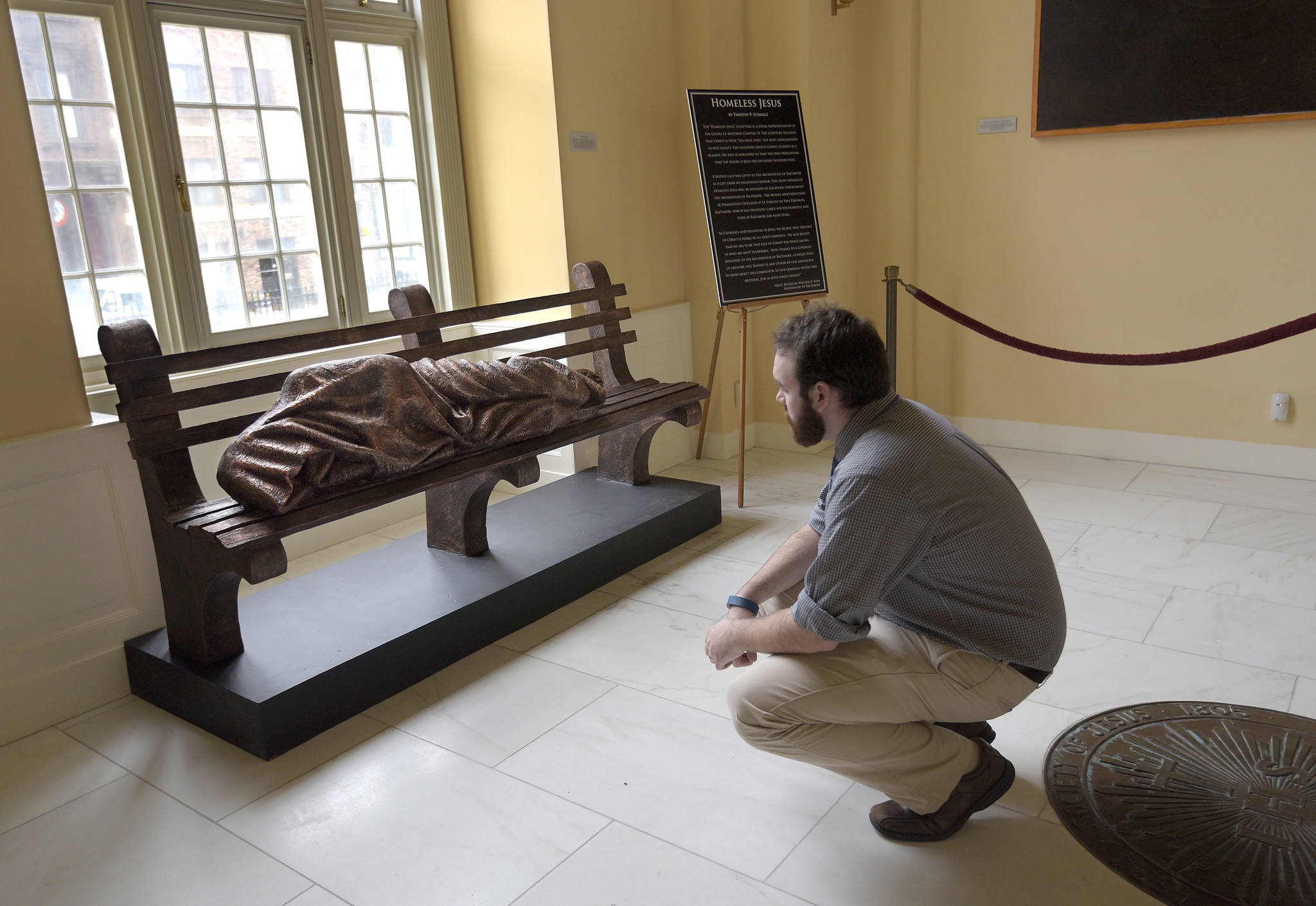 Homeless Jesus Finds Its Place In Baltimore Capital