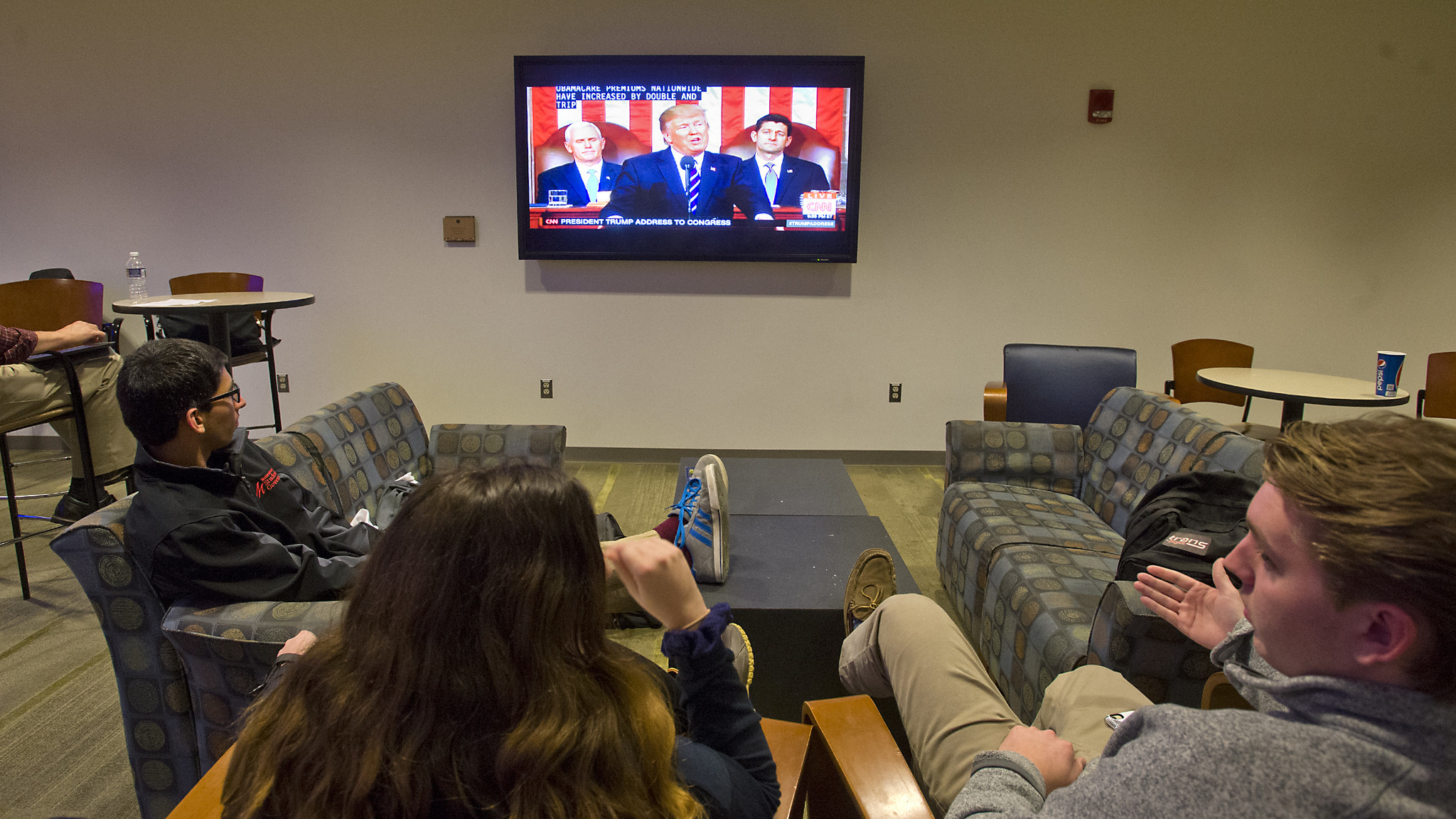 : Muhlenberg College students watch Trump's speech - The ...