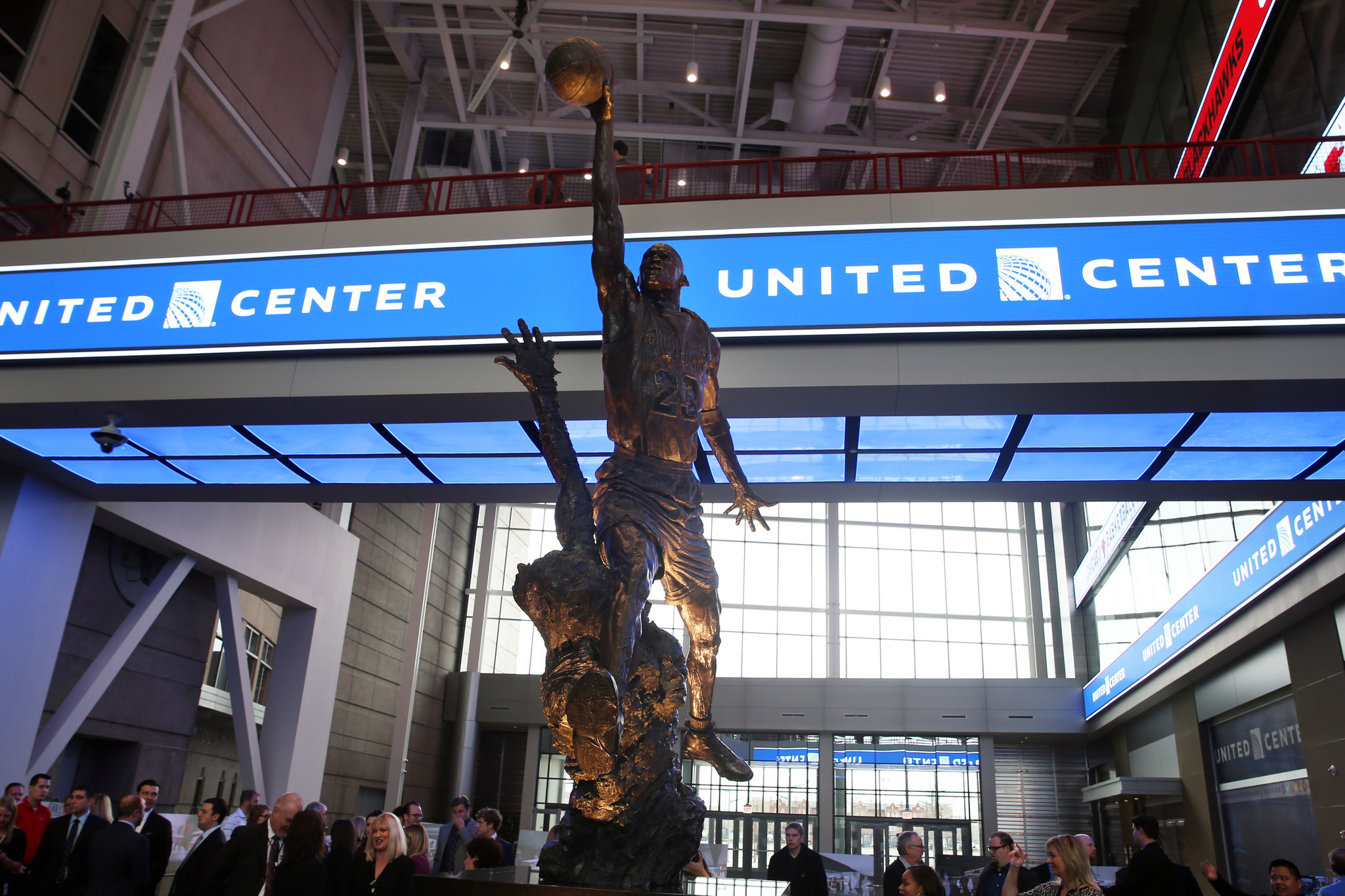 Exterior: Michael Jordan Statue Centerpiece Of United Center's East
