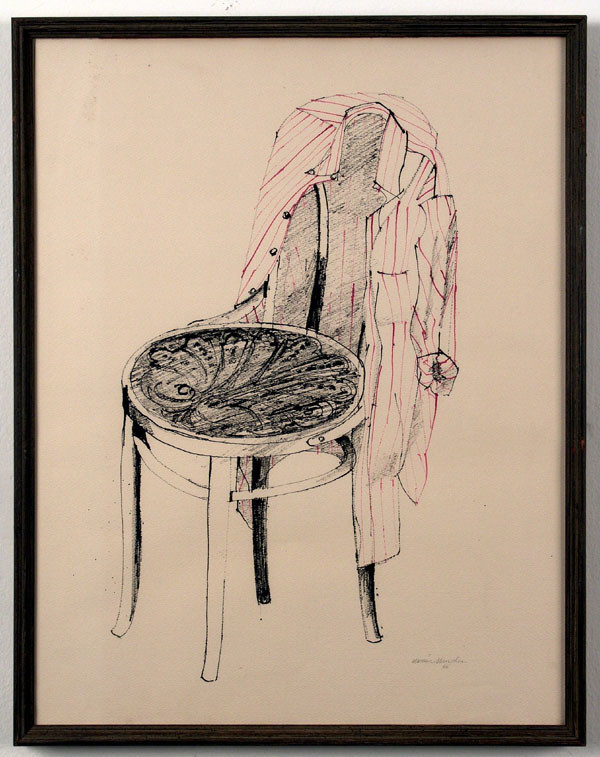 """""""Chair,"""" 1966, by Marion Sampler, at the California African American Museum."""
