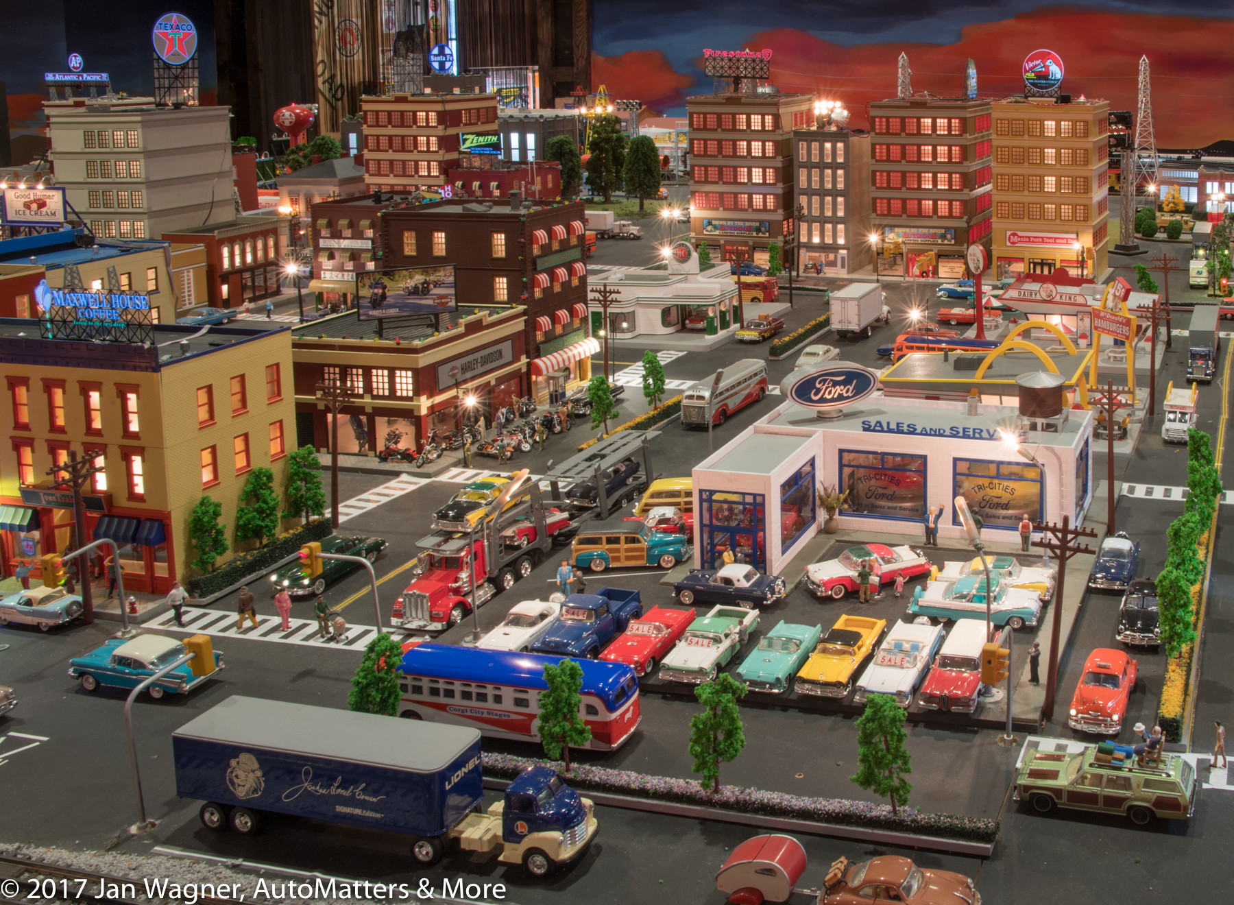 Huge city scene in miniature.