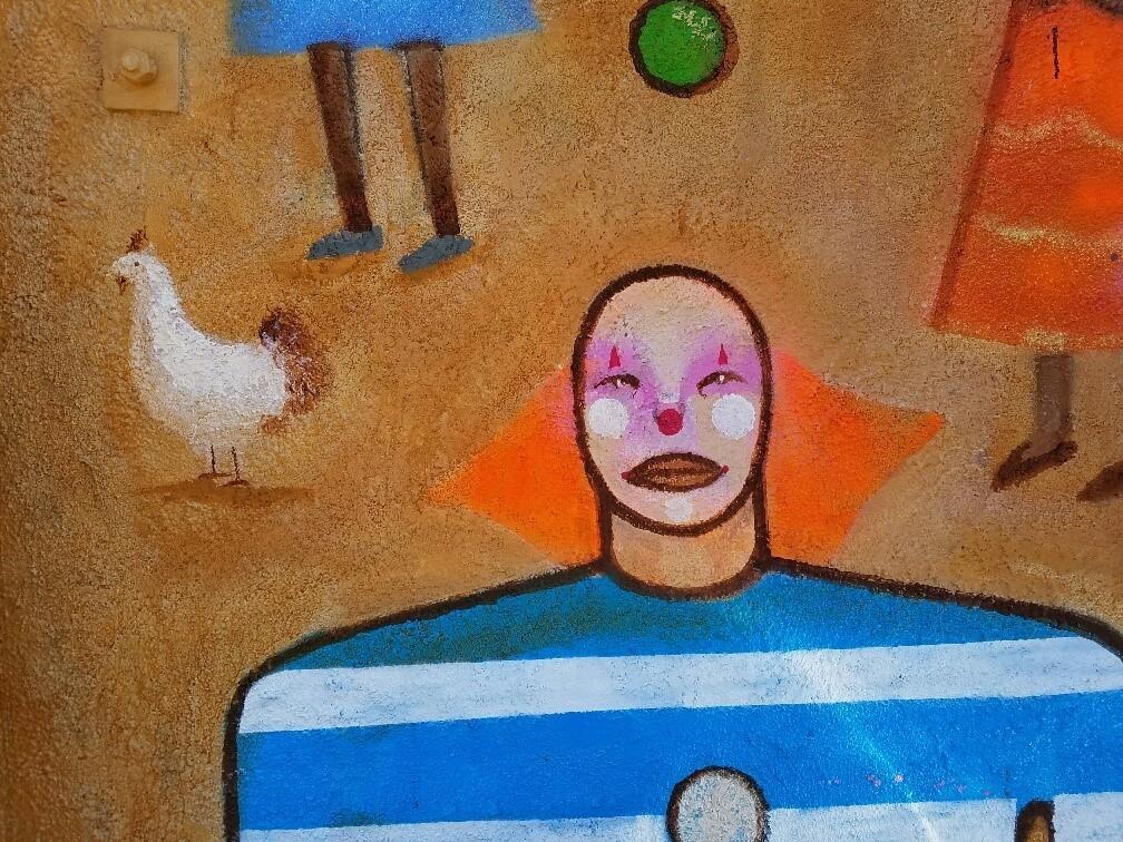 A detail of Armando Lerma's mural,