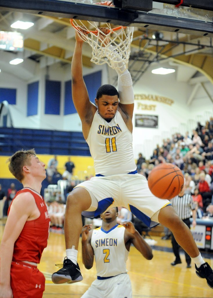 No need to push it for No. 2 Simeon in sectional rout of ...