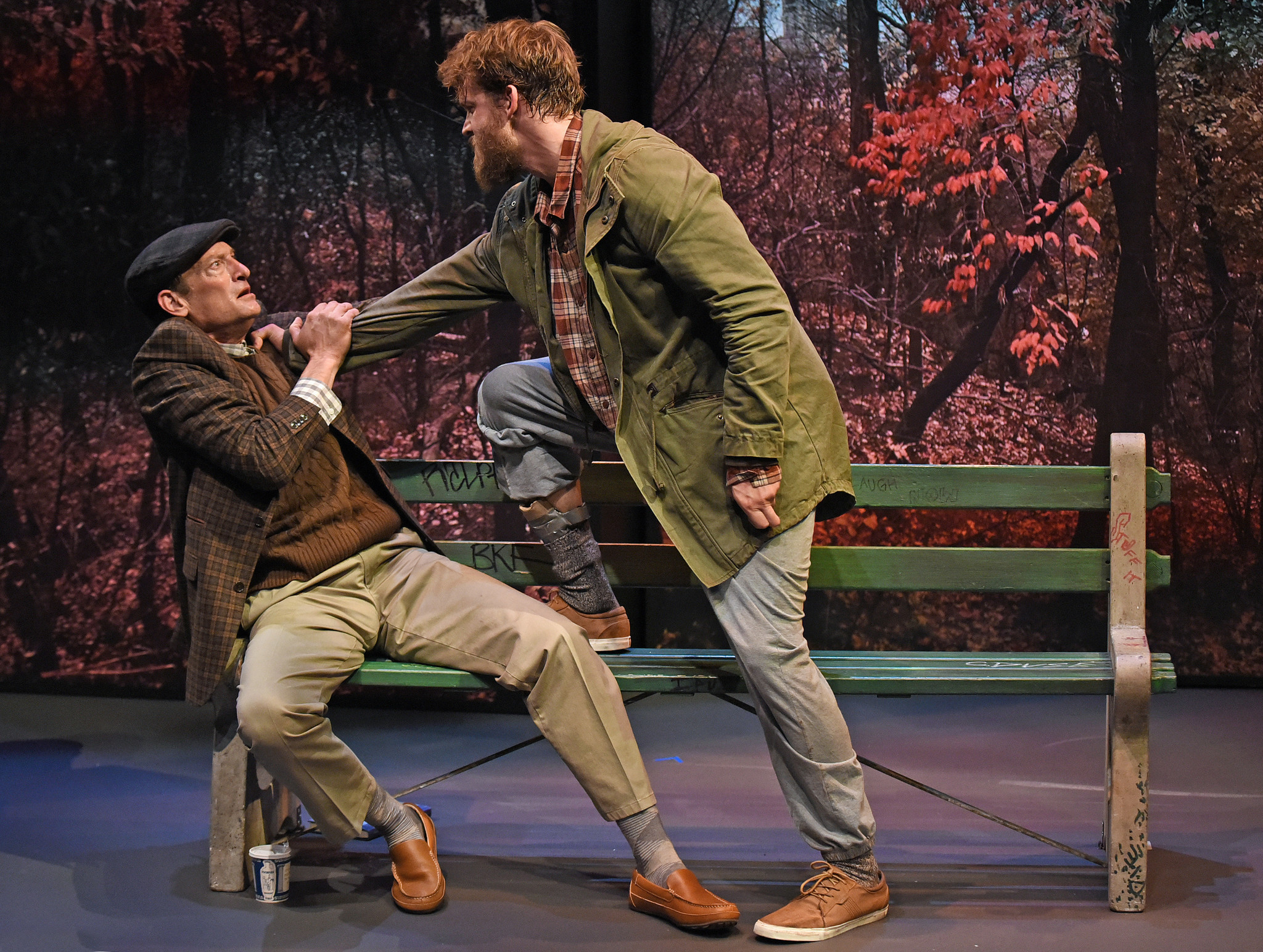 """Troy Kotsur, left, and Russell Harvard in """"Edward Albee's at Home at the Zoo"""""""