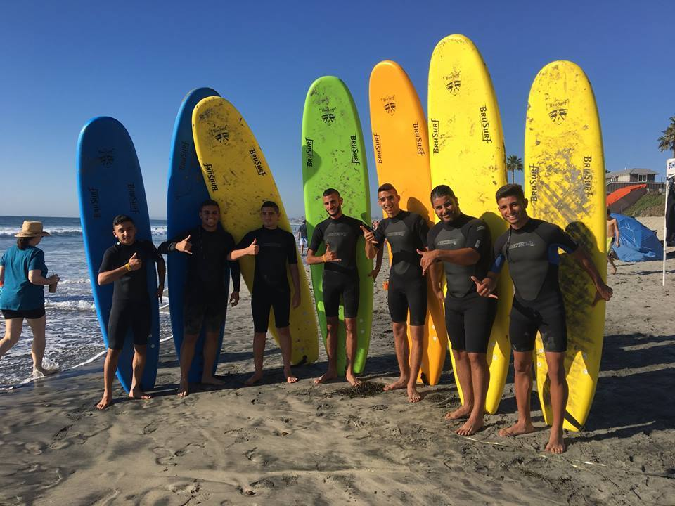 Israeli teens were able to explore San Diego last year with their chaperone.