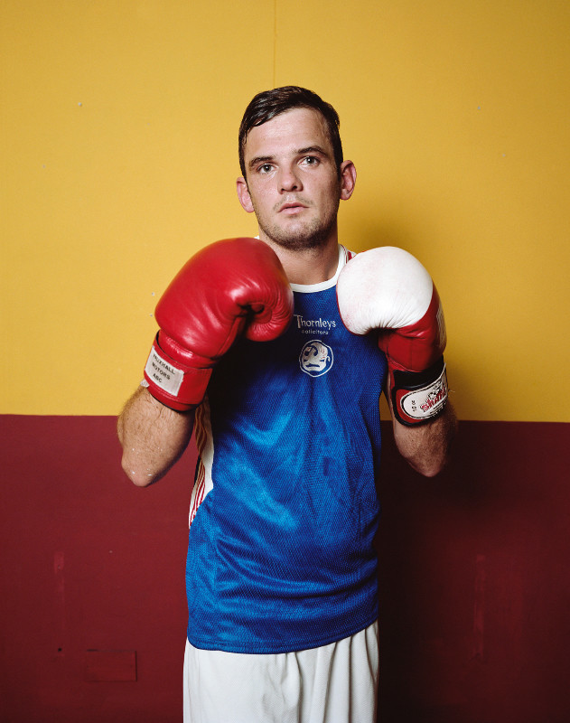 Jona Frank, based in Santa Monica, works in Liverpool, England, photographing young boxers. (Jona Frank)